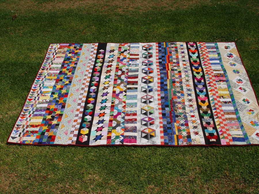 Quilt on Lawn